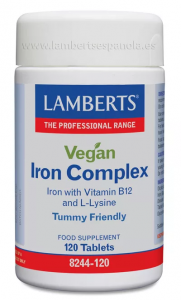 Lamberts Complejo De Hierro Vegano 120 Tab