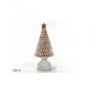 General Trade Albero Di Natale Rosa e Bianco 25 cm