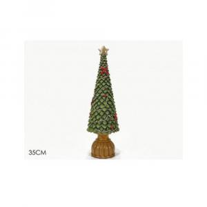 General Trade Albero Di Natale Verde/Rosso 35 cm