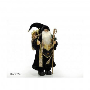 General Trade Babbo Natale 60 cm Nero