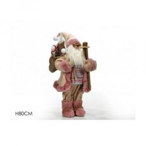 General Trade Babbo Natale Rosa 80 cm Con Sci