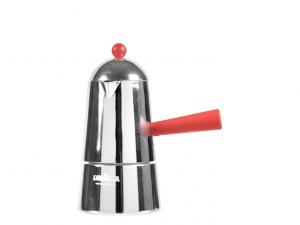 Caffettiera allumino Carmencita 3 tazze rossa induzione