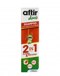 Aftir Duo Shampoo 2 in 1 Elimina e Protegge da Pidocchi e Lendini  100 ml.