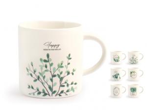 Tazza té porcellana decoro botanico