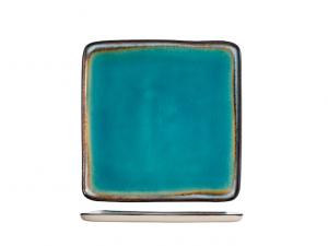 H&H Piatto quadro azzurro mare 20x20 Teide