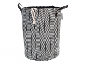Porta biancheria cm35 nero bianco bagno