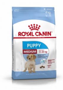 ROYAL CANIN Medium Puppy Secco Cane 4kg ,15kg o 15kg +3kg gratis
