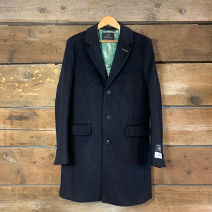 Cappotto Scotch & Soda in Misto Lana Blu Navy