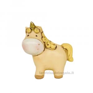 Statuina Unicorno piccolo in resina 4 cm - Bomboniera battesimo e comunione