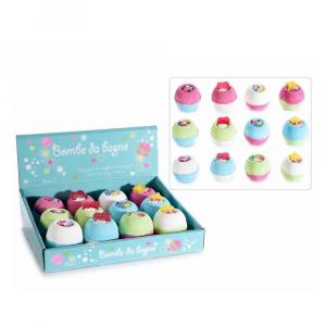 Set 12 bombe da bagno a dolcetto 95 gr. profumate e colorate