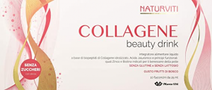 Naturviti Collagene Beauty Drink 10 Flaconcini Da 25ml- Frutti di Bosco