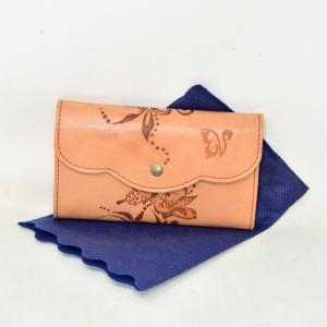 Wallet In Leather Vaneclettica Made In Italy