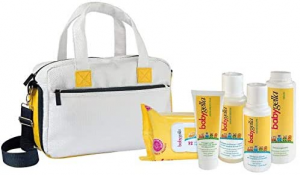 Babygella Borsa da Viaggio contenente diversi prodotti Babygella.