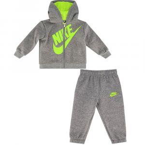 Nike tuta con logo lime e zip