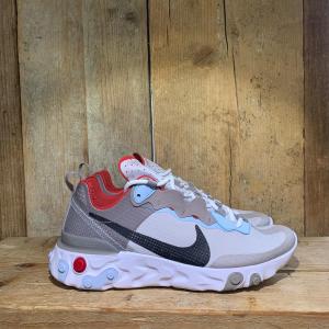 Scarpa Nike React Element 55 RM Bianca Grigia e Rossa