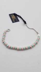 Bracciale DoDo Mariani con conchiglie smaltate azzurre e rosa, vendita on line | OREFICERIA BRUNI IMPERIA