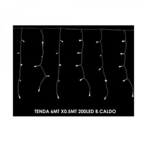General Trade Tenda Luminosa 6x0.5mt Bianco Caldo 200 led