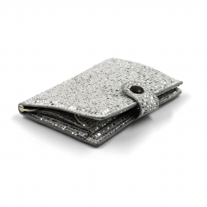 IClutch Woman glitter - argento