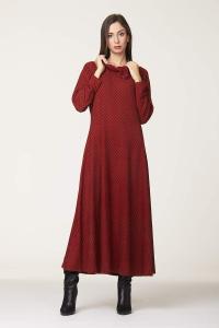 Abito lungo rosso | vestiti maglina online
