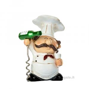 Cavatappi apribottiglia Chef in resina 8x6x15 cm - Idea Regalo