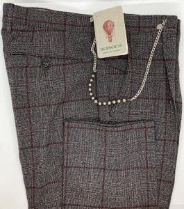 Pantalone lana, fantasia finestrata Berwich