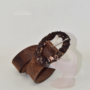 Belt Brown Michele Retucci Made In Italy True Leather 104cm