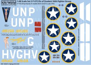 Republic P-47 Thunderbolts razorbacks
