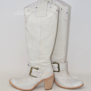 Boots Leather White Model Youxas N 36 Brand Black Gardens