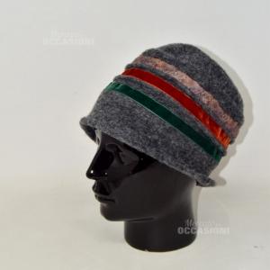 Cappello Da Signora In Lana Grigio Made In Italy