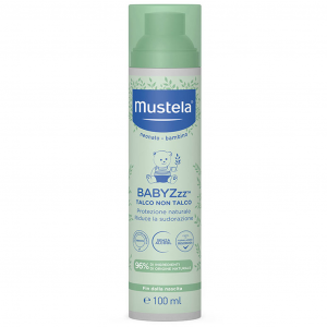 Mustela Babyzzz talco non talco protezione naturale contro zanzare 100 ml