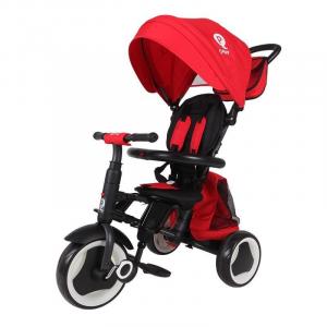 Passeggino Triciclo Pieghevole Qplay Rito 3 in 1 Happy Kids rosso