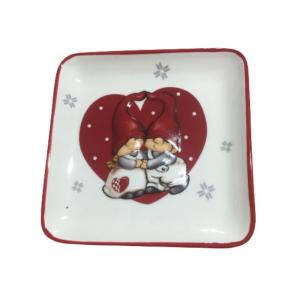 Piattino svuota tasche ceramica gnomi