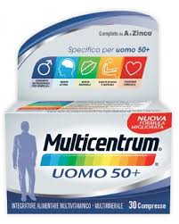 Multicentrum Uomo 50+ 30 compresse multivitaminico