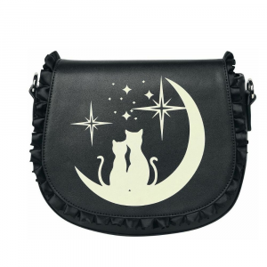 Banned Alternative borsa nera Lunar Sisters due gatti