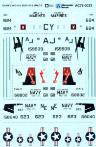 Grumman EA-6B VAQ-133, VAQ-135 & VMAQ-2