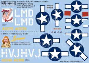 Republic P-47M Thunderbolts razorbacks