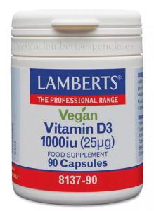 Lamberts Vegan Vitamina D3 1000 Ui 90 Caps
