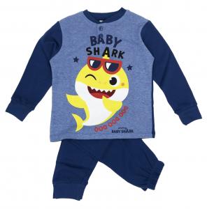 Pigiama Baby Shark Bambino da 3 a 7 anni in Caldo Cotone Inverno 2021