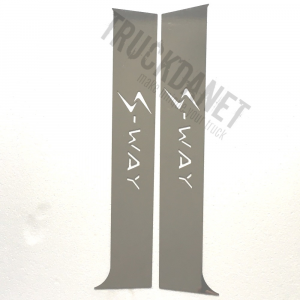Iveco S-WAY Piantoni portiera con scritta  S-WAY in acciaio inox lucido (aisi 304).