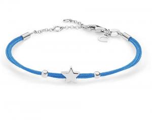 Comete Bracciale Stella, cordino azzurro
