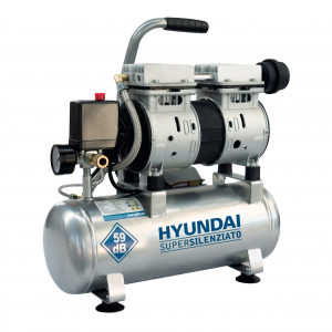 COMPRESSORE HYUNDAI 8 LITRI SUPERSILENZIATO OILLESS CARENATO Cod. 65702