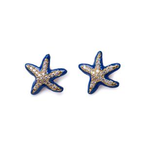 Orecchini Isola Bella Stella Marina Lapilli Blu