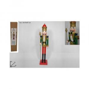 Due Esse Soldatino Schiaccianoci Di Natale In Legno 82 cm