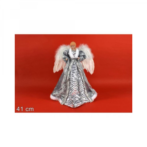 Due Esse Angelo Puntale Natalizio 41 cm Color Silver