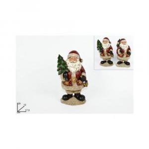 Due Esse Babbo Natale 29cm Decorazione Natalizia Rosso e Bianco