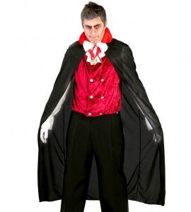 VAMPIRO Mantello Nero 140 cm HALLOWEEN
