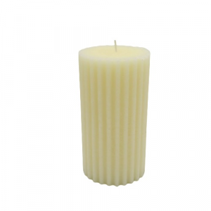 EDG candela vaniglia cilindrica rigata 62 ore  avorio