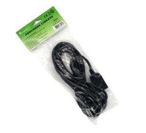 Prolunga filo nero 5 metri con spina e presa piccoli 10a