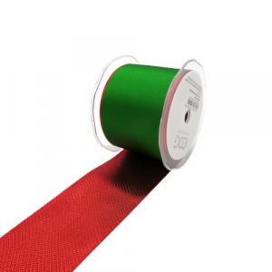 EDG nastro fetuccia verde e rosso 60mm