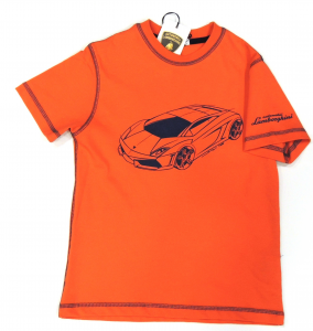 Lamborghini Boys Bi Coloro Gallardo Sketch T-shirt Arancione